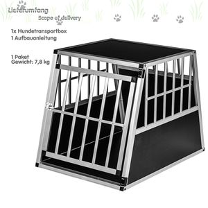 Alu Hundetransportbox L Rückwand 75°