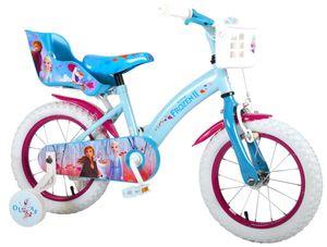 14 Zoll Kinder Mädchen Fahrrad Mädchenfahrrad Kinderfahrrad Mädchenrad Rad Bike Rücktritt Rücktrittbremse Disney Frozen die Eiskönigin Elsa Volare 91450-CH