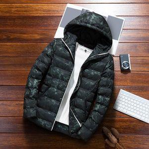 Herren Herbst Winter Casual Camouflage Hoodie Jackenmantel Größe:XXXL,Farbe:Türkis
