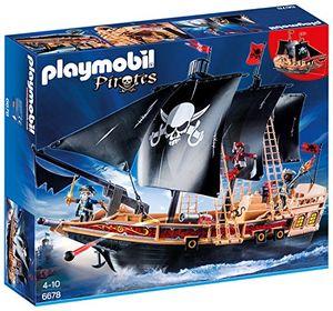 PLAYMOBIL 6678 Schwimmfähiges Piraten Kampfschiff mit Totenkopfmotiv