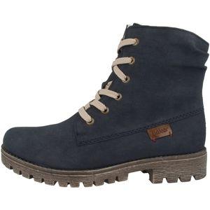 rieker Damen Schnürstiefel Schuhe Blau, Größe:40