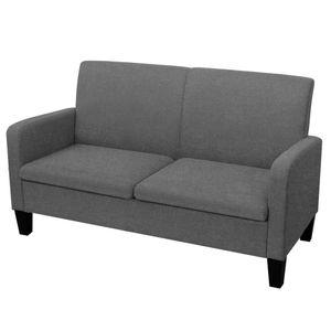 vidaXL 2-Sitzersofa 135 x 65 x76 cm Dunkelgrau