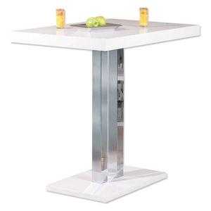 Moderner Bartisch Esszimmer Bar Palazzi weiß hochglanz chrom