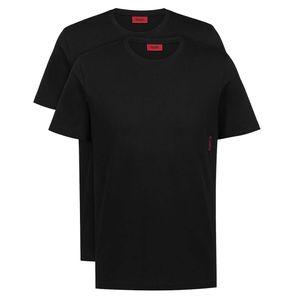 BOSS 2P HUGO Herren Rundhals T-Shirts S bis XXL schwarz oder weiß 2 schwarz L