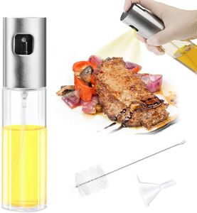 Ölsprüher Flasche, Oil Sprayer Glas Öl Essig Spender Flasche Küche Werkzeug, Öl Sprüher für Kochen, BBQ, Grillen, Pasta, Salate, Backen und Braten (100ml)
