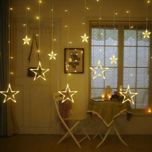 led Lichterkette 12 Sternenvorhang led Lichtervorhang Weihnachten xmas warmweiß