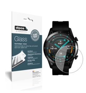 2x Huawei Watch GT 2 (46mm) Schutzfolie - Panzerfolie 9H Folie dipos Glass