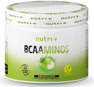 BCAA POWDER GRÜNER APFEL - Aminosäuren Mix hochdosiert - Vegan - BCAAs Instant Pulver - Branched-Chain Amino Acids - Aminosäure Nahrungsergänzung 300g - Aminosäurepulver