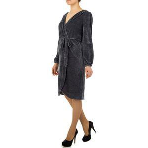 Ital-Design Damen Kleider Cocktail- & Partykleider Grau Gr.m