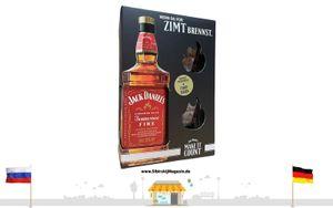 """Jack Daniels """"CINNAMON SPICE"""" Tennessee FIRE 0,35L alc. 35% vol. + 2 SHOTGLÄSER"""