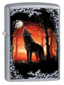 Zippo Feuerzeug Wolf Moon Trees 60002725