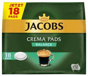 Jacobs Crema Pads Balance | 18 Senseo kompatible Pads 118 g