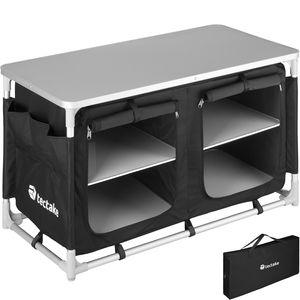 tectake Campingküche 97x47,5x56,5cm - schwarz