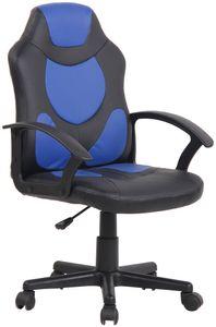CLP Kinder Bürostuhl Adale höhenverstellbar, Farbe:schwarz/blau