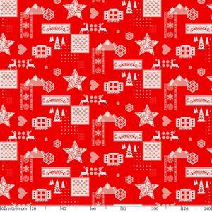 Weihnachten Weihnachtsstimmung Rot 100x140cm Wachstuch Tischdecke