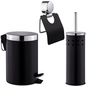 tectake WC Garnitur, 3-tlg. - schwarz