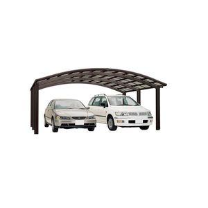 Carport XIMAX Portoforte Alu Typ 110 M mattbraun 495x542x248cm