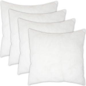 Home Edition 4er Set Kissen 45 x 45 cm - Füllkissen aus Polyester mit 230 gr. Kissenfüllung - ideal als Dekokissen, Zierkissen, Kopfkissen