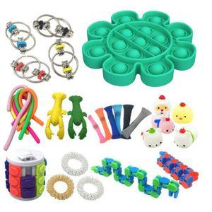 Convincied Push Pop Bubble Fidget Sensory Toy Set, Sensory Zappeln Anti Stress Spielzeug, Angst Relief Finger Toys Für Kinder Und Angst Mit Angstlust