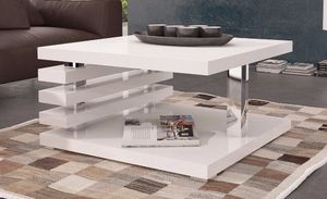 Design Couchtisch DC-2 Weiß Hochglanz Highgloss Tisch Wohnzimmertisch 60x60x40cm