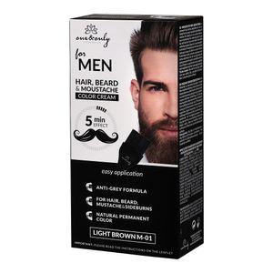ONE&ONLY Bartfarbe für Bart und Schnurrbart LIGHT BROWN M-01