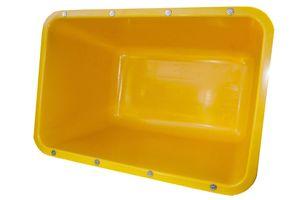Mörtelkübel gelb 200l  2. Wahl Fehlfarbe + Verstärkung nicht Kranbar