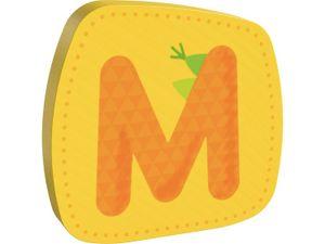 HABA Holzbuchstabe M, Buchstaben, Türschild, Wand, Dekoration, Kinderzimmer, Kind, Baby, 302458
