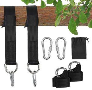 Colisal Schaukel Aufhängung Befestigung Set 1,5 m Hängematten Befestigung Aufhängung Nylon Hanging Gurt mit 2 Schaukel Karabinern Haken für Schaukel Hängematten Schwarz