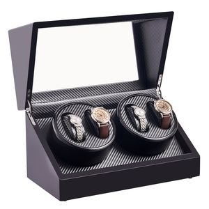 Crenex Automatisch Uhrenbeweger Uhrenkasten Uhrenbox Uhrendreher Watchwinder Box für 4 Uhren