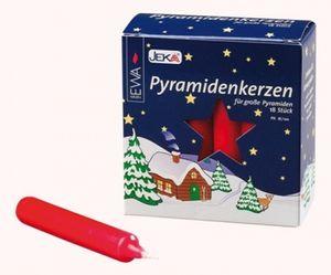 Pyramidenkerzen rot, 18er Pack Höhe: 10,5 cm, Ø 1,7 cm NEU