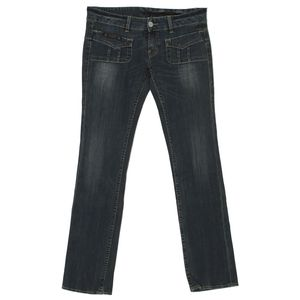 19962 Herrlicher, Lou,  Damen Jeans Hose, Stretchdenim, blue used, W 30 L 34