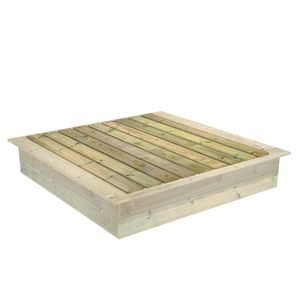 FATMOOSE PowerPit Sandkastendeckel zum PowerPit Sandkasten 165 x 165 cm