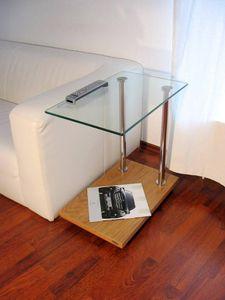 Design Beistelltisch Tisch Ecktisch V-270 Eiche hell Zebrano Carl Svensson