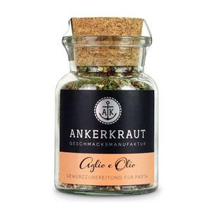 Ankerkraut Aglio e Olio Gewürzzubereitung für Pasta Korkenglas 50g