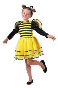T3059-98-104 gelb-schwarz Kinder Mädchen Bienen Kostüm 3 tlg. Gr.98-104