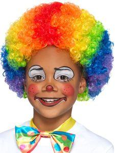 Kinder Perücke Clown Regenbogen Afro Karneval Fasching