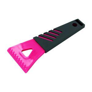 Eiskratzer Profi mit isoliertem Griff, Kunststoff, Eisschaber, Frostschutz, grau-pink