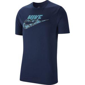 Nike Herren T-Shirt Nike Camo Logo midnight navy/cerulean XL