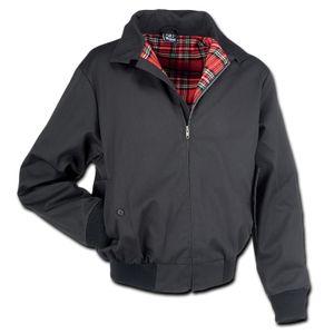 Brandit - Lord Canterbury Schwarz Black Bomber Vintage Jacke Harrington Englandjacke
