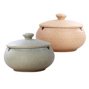 2 Stück Keramik Aschenbecher Mit Deckel Home \\u0026 Office Aschenbecher Für Den Innenbereich Hellblau