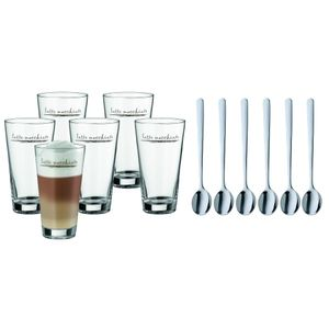 WMF 1 Latte Macchiato 6er Set mit Löffel 996269999