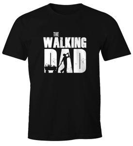 Herren T-Shirt The Walking Dad Bier Vatertag Geschenk Fun-Shirt Moonworks®  XL
