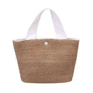 Frauen Woven Bag Strohsack Gro?e Kapazit?t Sommer Strand B?hmische Handtasche Totes Weben Tasche Eimer Tasche