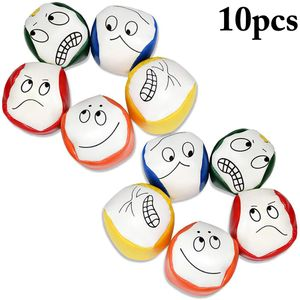 Jonglierbälle für Anfänger, 10 STÜCKE Jonglierball Set Kreative Lustige Pädagogische Jonglierbälle zum Ballspielen für Jungen, Mädchen und Erwachsene, Langlebig und Weich