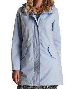 Barbour Seaglow Jacke wasserabweisender Damen Frühlings-Mantel Hellblau, Größe:44