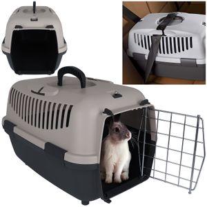 Transportbox mit Metalltür Tiertransportbox Katze Haustiere Katzenbox Tierbox Katzentransportbox