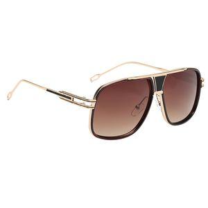 Sonnenbrille Fliegerbrille Nerdbrille Pornobrille Brille Verspiegel Metallrahmen wie beschrieben Goldrahmen Brown Lens