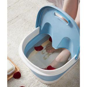 Fußwaschbecken Waschbecken Fußbad Eimer Pediküre Bad Badewanne Blau modern Fußbadmassage 44 x 33 x 21,5 cm