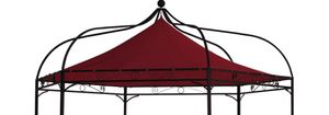 DEGAMO Pavillondach Dachplane Ersatzdach für Pavillon MODENA 6-eckig, Polyester PVC-beschichtet bordeaux