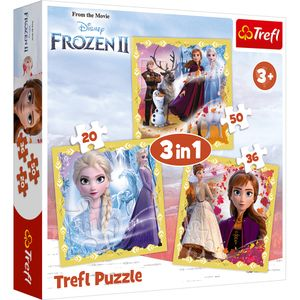 Trefl 3 in 1 Puzzle - Disney Frozen 2